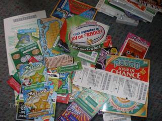 Collection ticket grattage fdj francaise des jeux loto