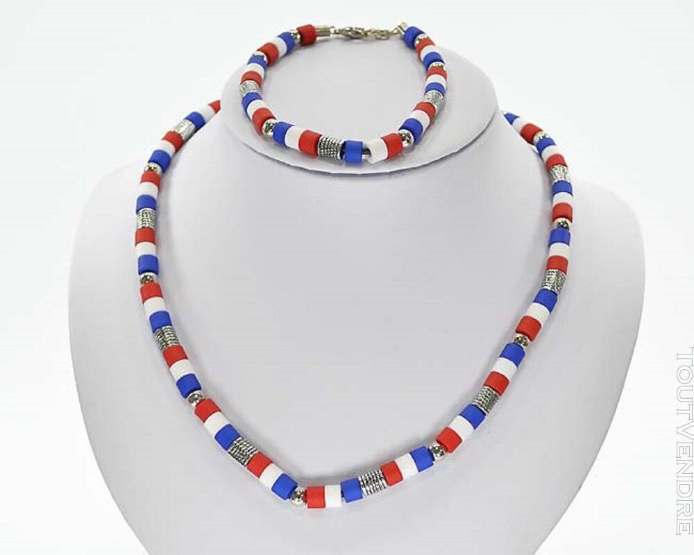 ⚽Collier bracelet parure perles France 353249719