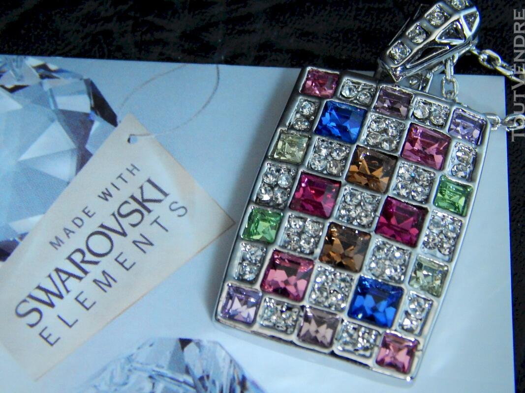 Collier en cristal swarovski 115711272