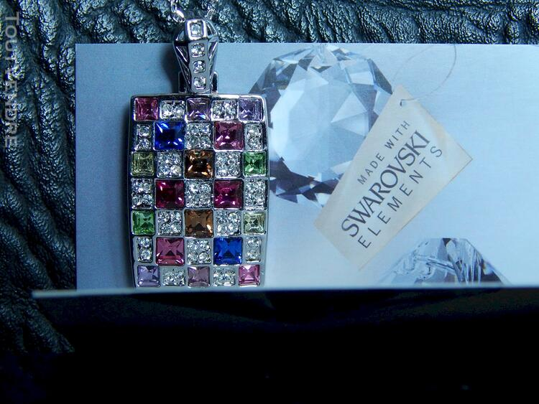 Collier en cristal swarovski 115711273