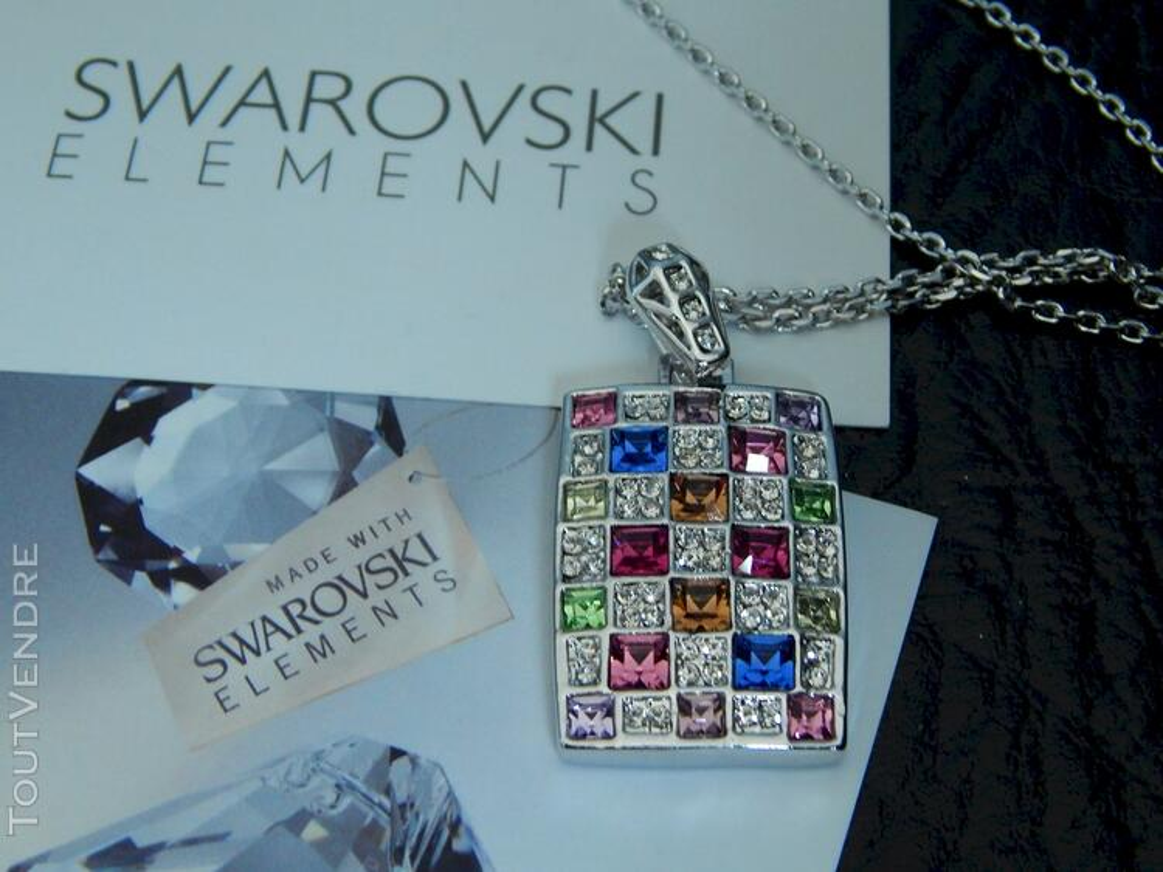 Collier en cristal swarovski 115711274