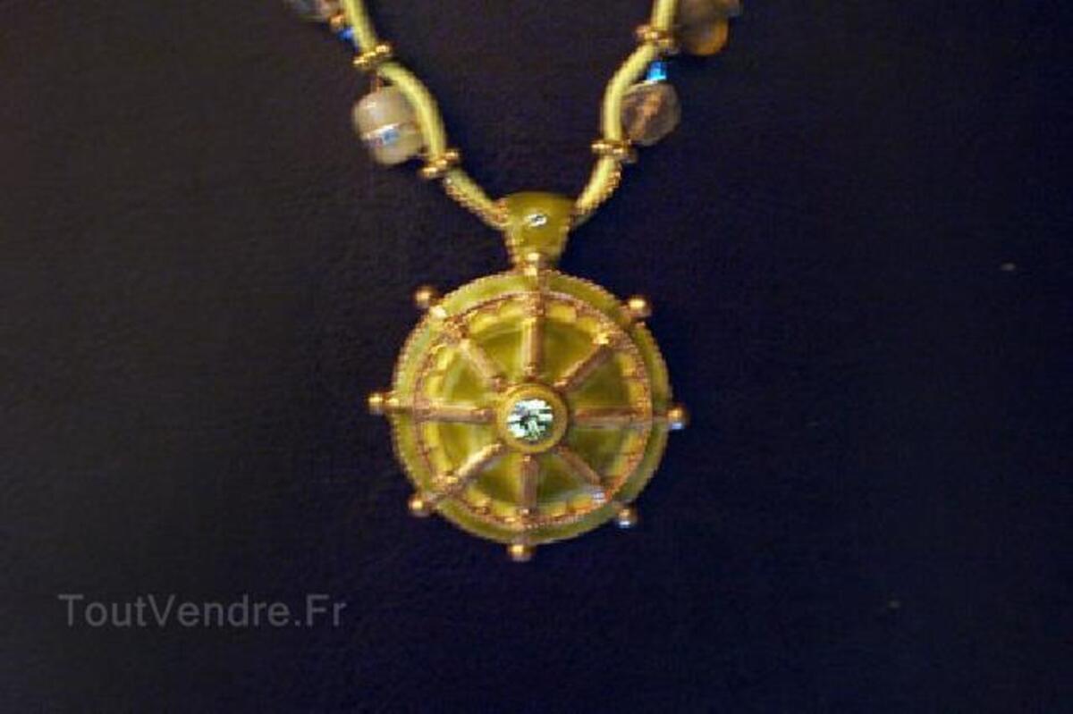 COLLIER ETHNIQUE BOHO | PENDENTIF VERT - Navajo Aztec 90594767