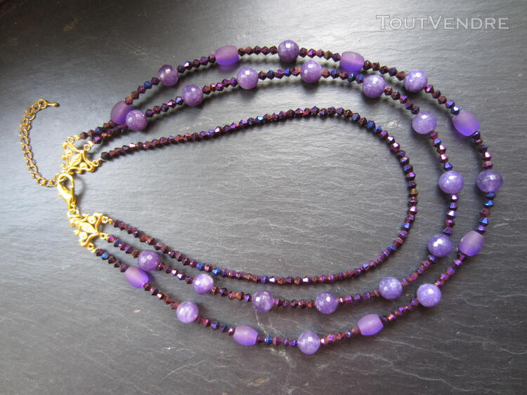Collier multi rangs violet 442839041