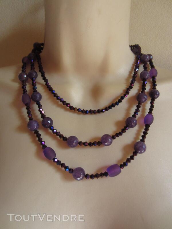 Collier multi rangs violet 442839797