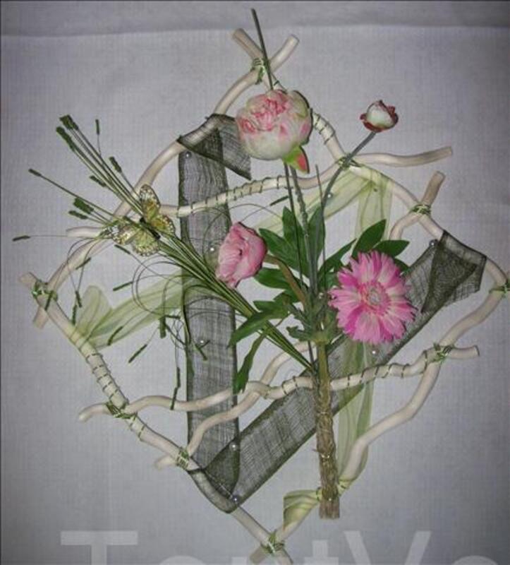 Composition florale murale 58060374