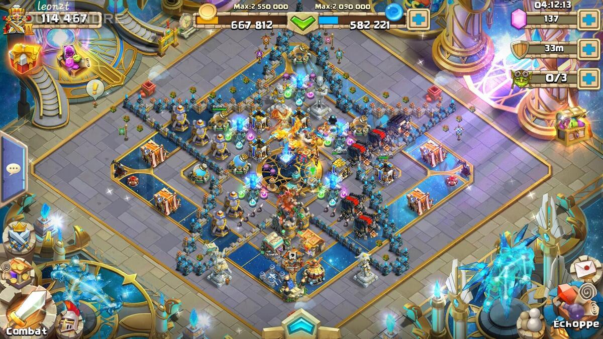 Compte Castle Clash A vendre 20€ 545232006