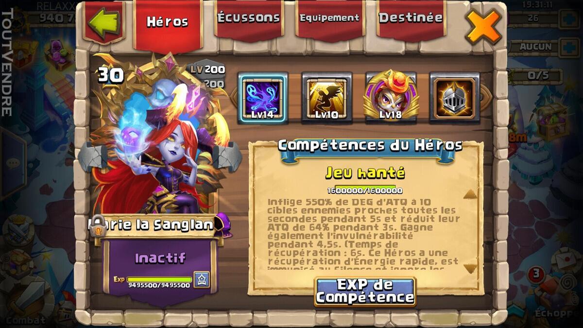 Compte Castle Clash ANDROID 940k de puissance 632540030