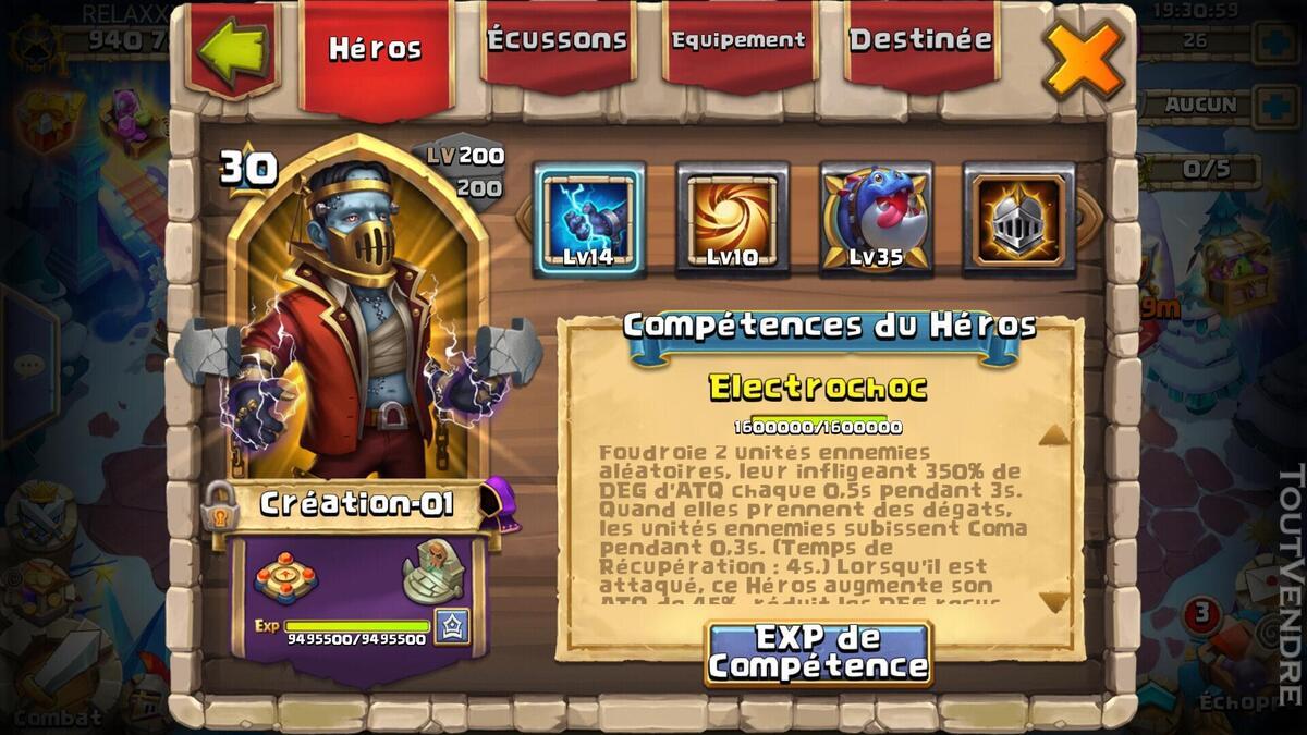 Compte Castle Clash ANDROID 940k de puissance 632540060