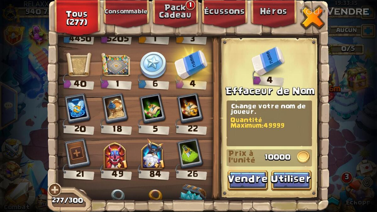 Compte Castle Clash ANDROID 940k de puissance 632540063