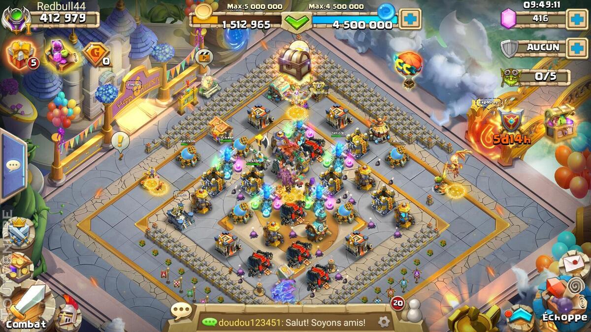 Compte castle clash evo 30 full esquive 641001505