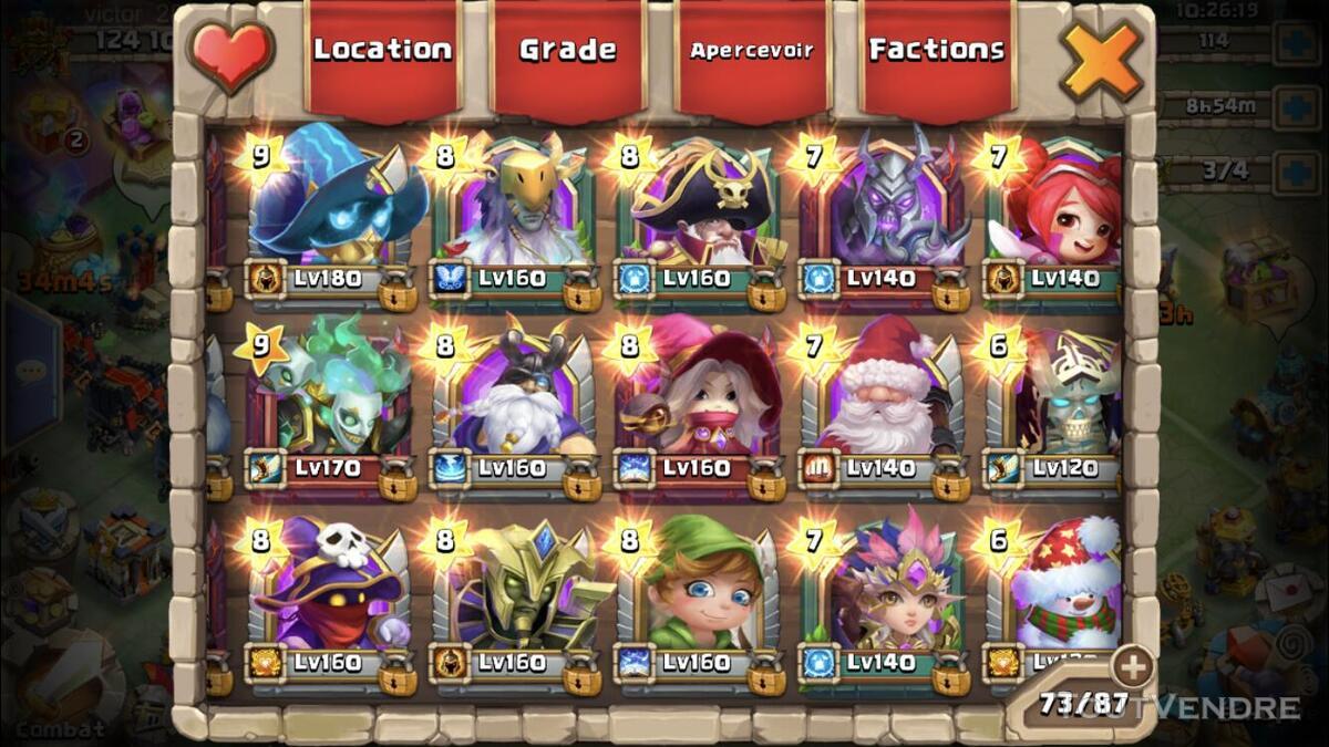 Compte castle clash 625029494