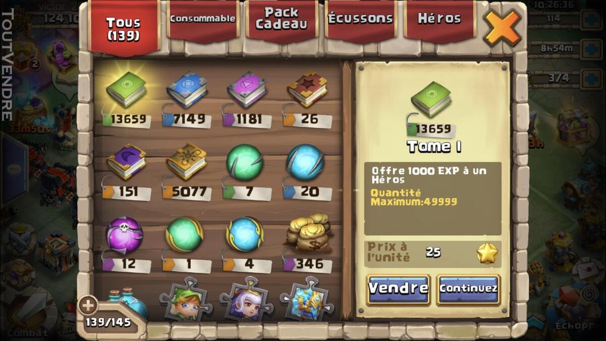 Compte castle clash 625029503