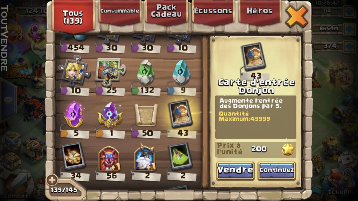 Compte castle clash 625029506