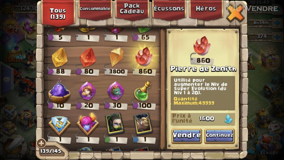 Compte castle clash 625029515