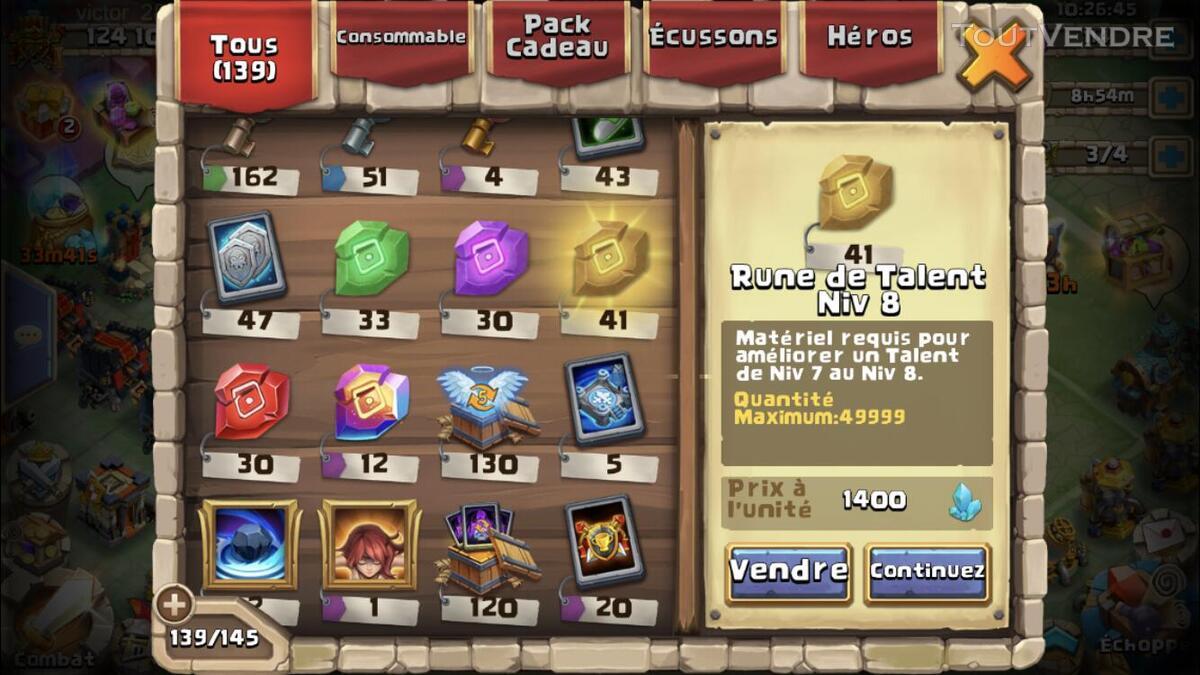 Compte castle clash 625029518