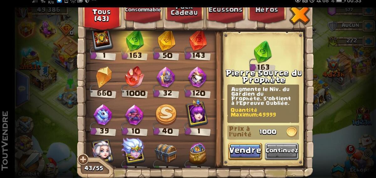 Compte castle clash 631395158