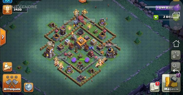 Compte Clash of clan Hdv 9 max +2800 gemmes 618513177
