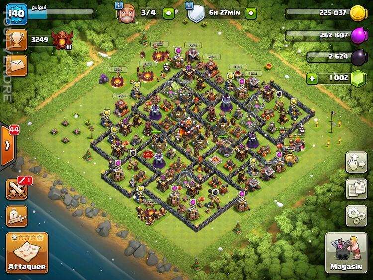 Compte clash of clan HDV10 maxé 173203497