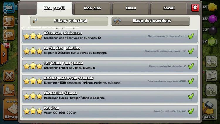 Compte clash of clan level 118 281134981