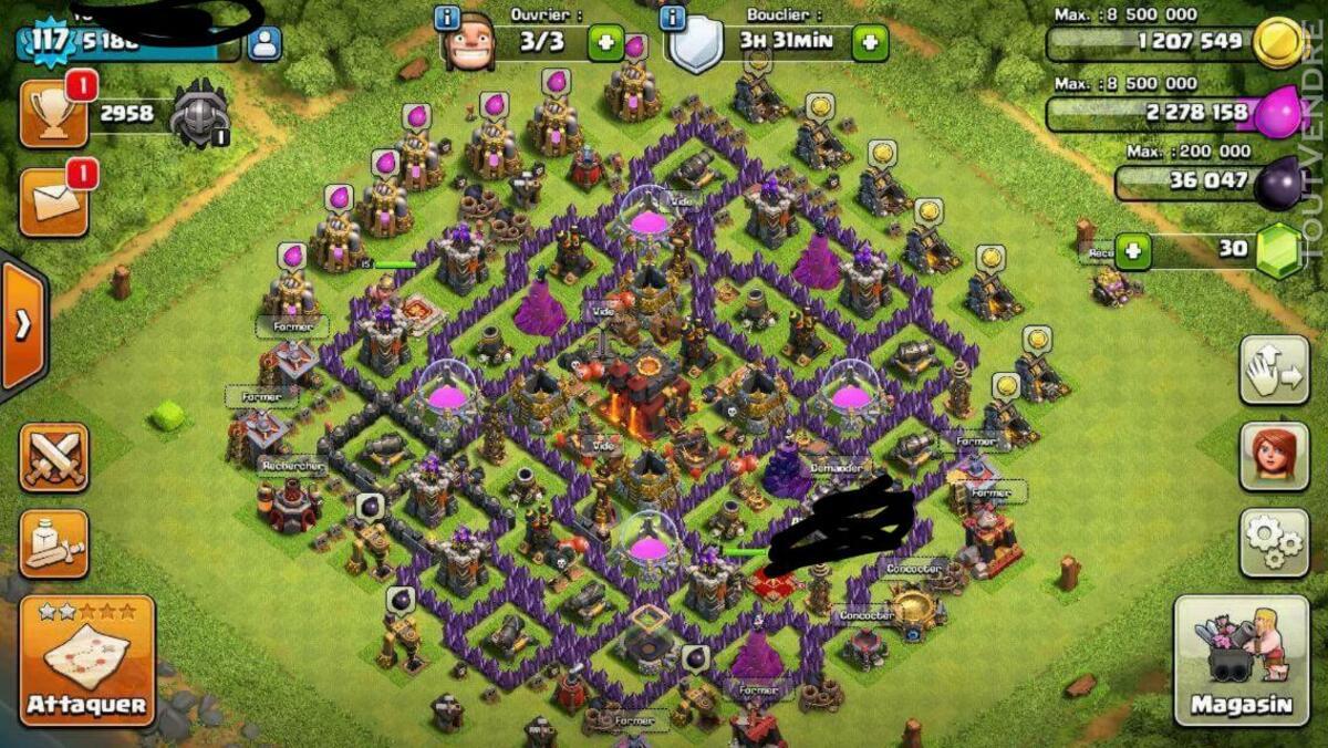 Compte clash of clan Niveau 120/ hdv 10 145900522