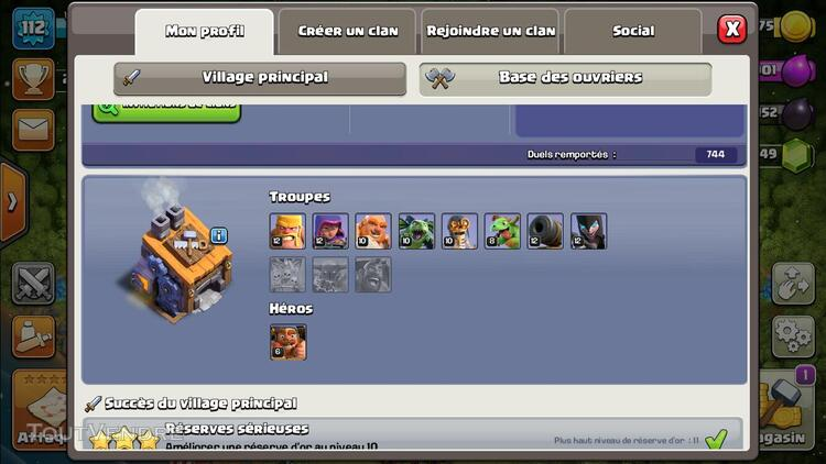 COMPTE CLASH OF CLAN TH10 628522333
