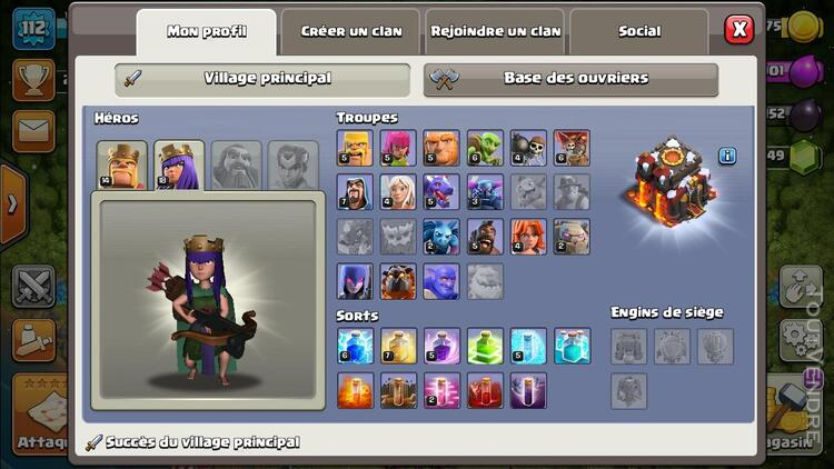 COMPTE CLASH OF CLAN TH10 628522336
