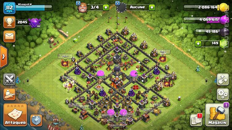 COMPTE CLASH OF CLAN TH10 628522342