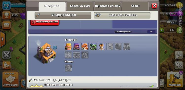 Compte clash of clan 710323899