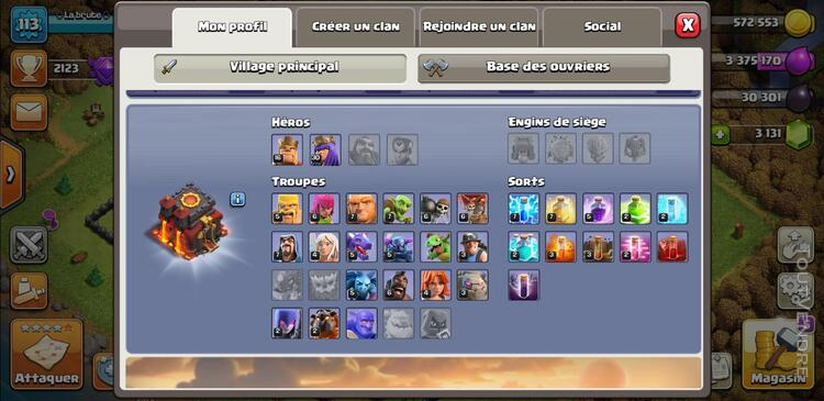 Compte clash of clan 710323935