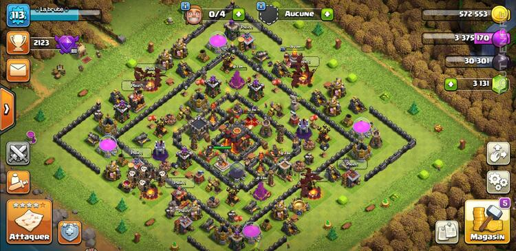 Compte clash of clan 710323989