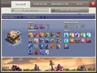 Compte Clash of clans hdv 11 non prema Rename gratuit
