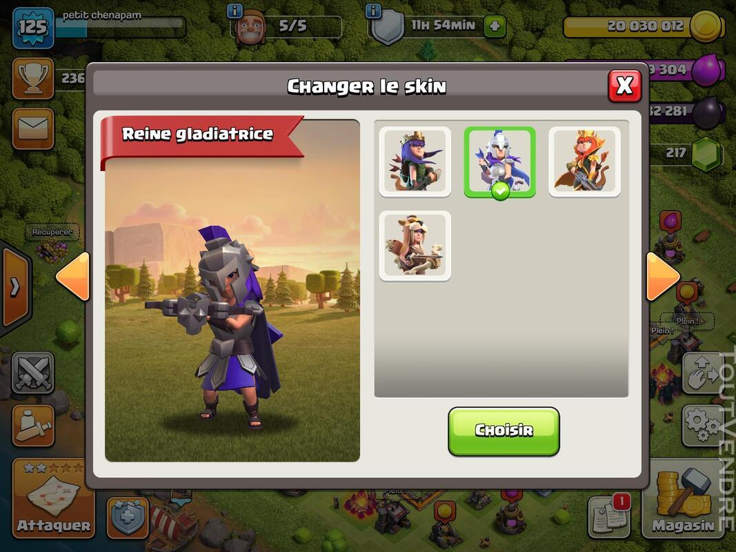 Compte Clash of clans hdv 11 non prema Rename gratuit 660829903