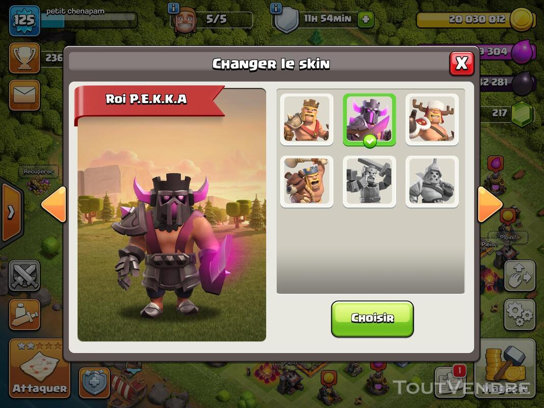 Compte Clash of clans hdv 11 non prema Rename gratuit 660829906