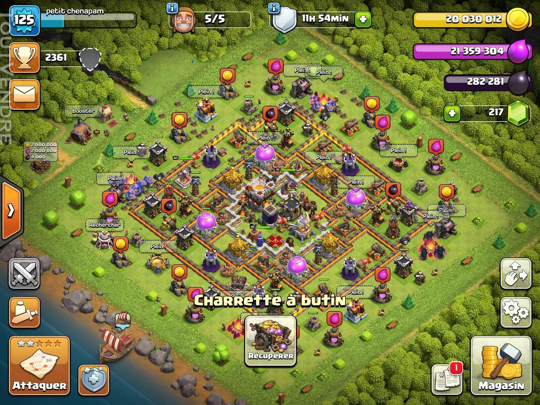 Compte Clash of clans hdv 11 non prema Rename gratuit 660829915