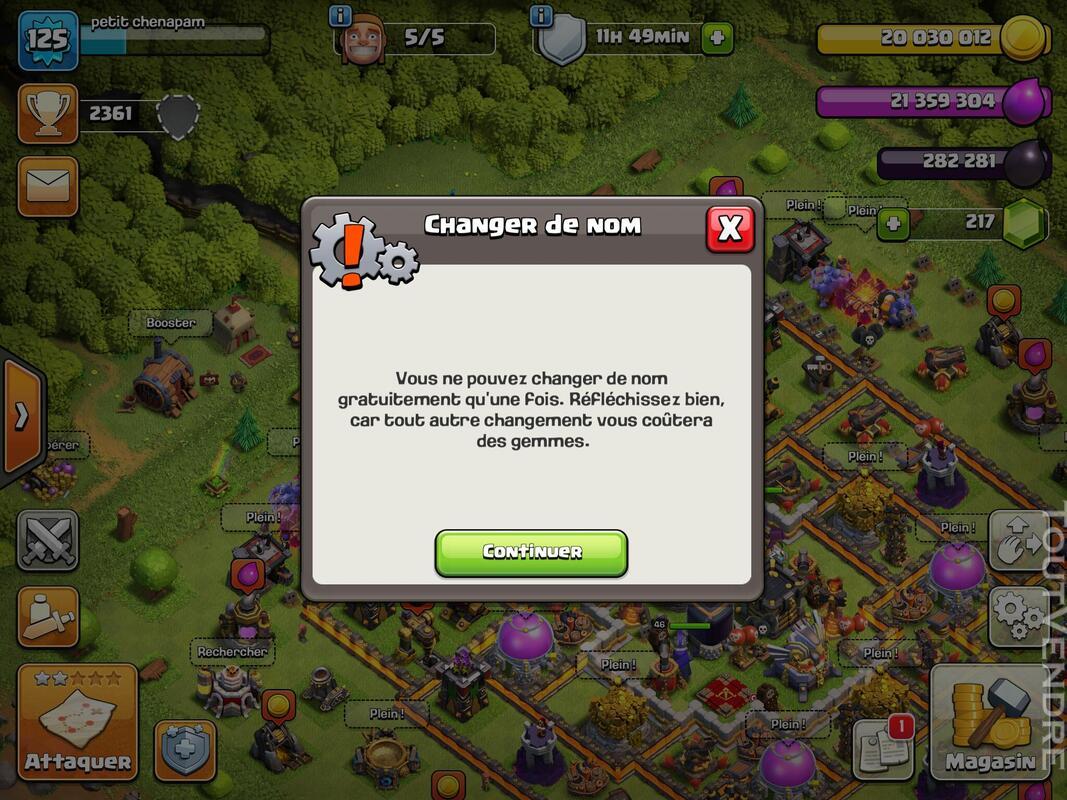 Compte Clash of clans hdv 11 non prema Rename gratuit 660829924