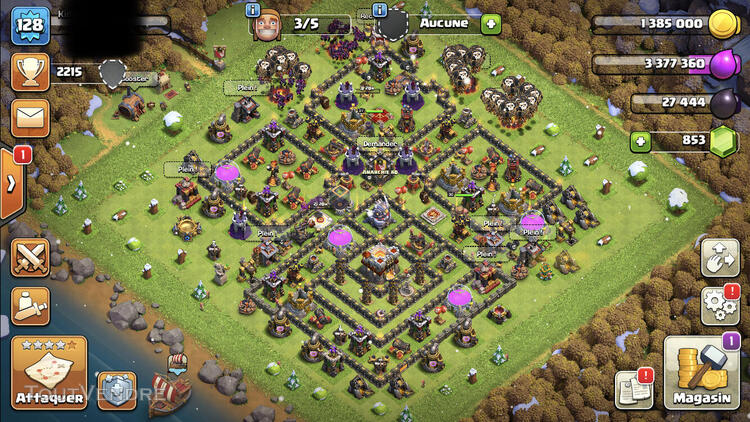 Compte Clash Of Clans HDV 11 726092540