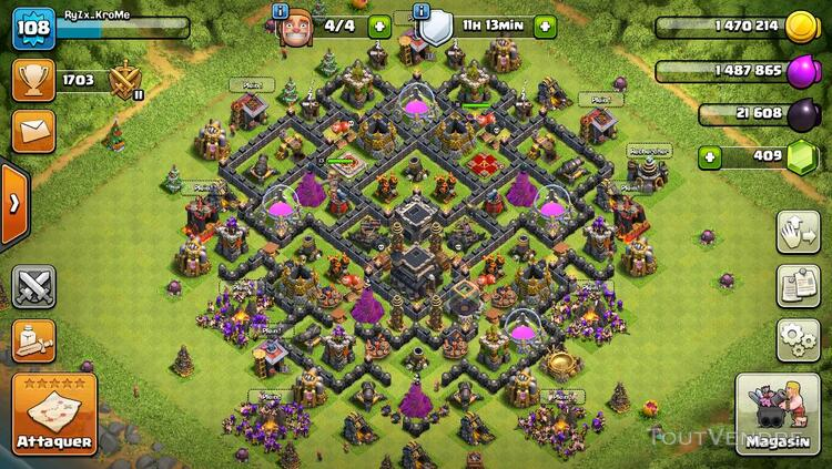 Compte Clash of Clans HDV9 lvl 108 179988410