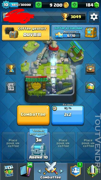 Compte clash royal 249312504