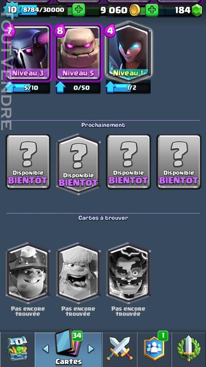 Compte clash royal 249312507
