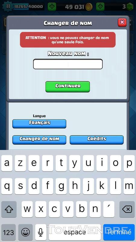 Compte Clash Royale 209965767
