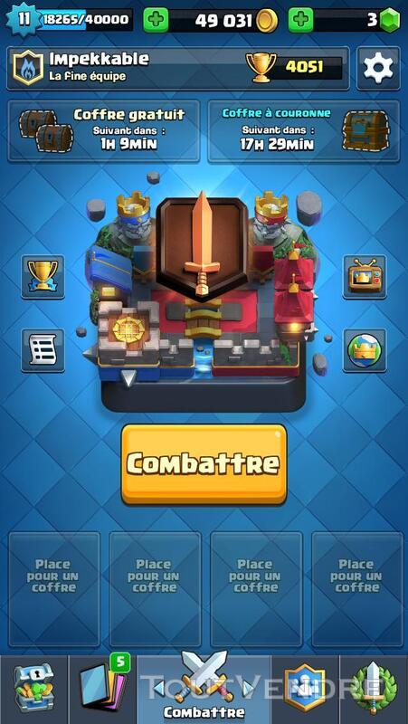 Compte Clash Royale 209965770
