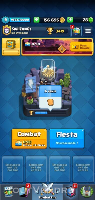 Compte clash royale 634108444