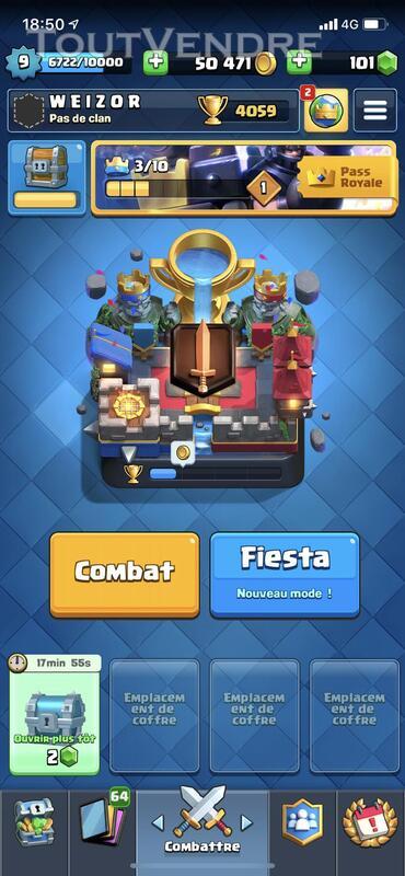 Compte clash royale 687429414