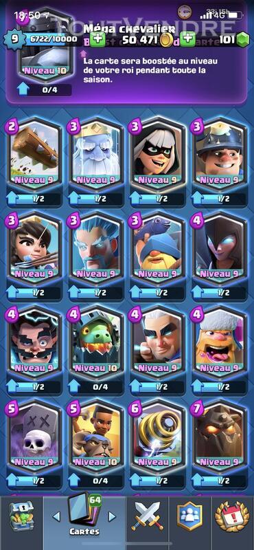 Compte clash royale 687429423