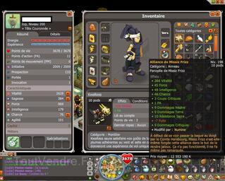 Compte Dofus Iop 200 et Cratte 199
