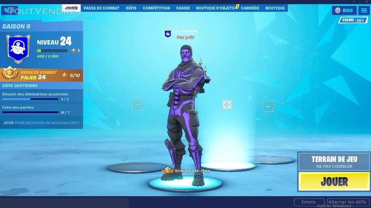 Compte fortnite avec skin ultra rare skellete violet 540478175