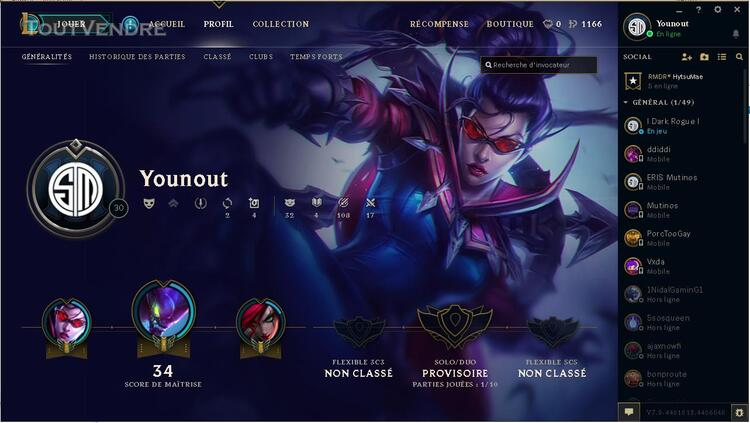 COMPTE LOL UNRANKED 290968441
