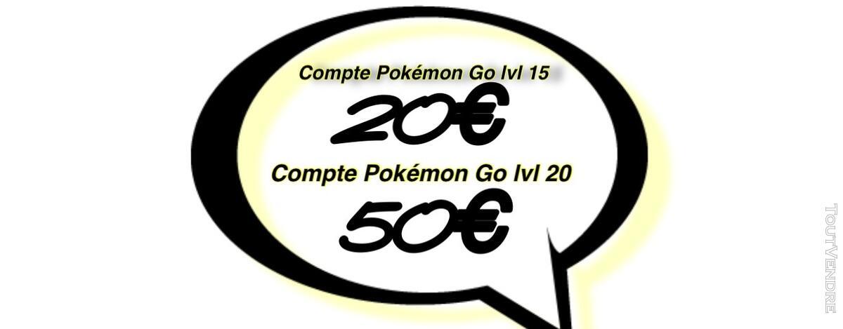 Compte Pokémon Go lvl 20 137220038