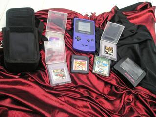 Console nintendo gam boy couleur violette +sacoche +5 jeux