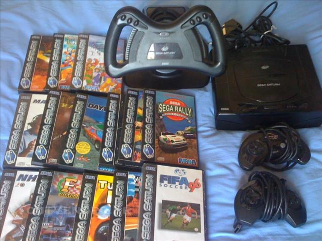 Console sega saturn, manettes, volant et jeux 83118206